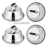 6.5In Cheese Melting Dome, HaSteeL Stainless Steel Small Round Basting Steaming Cover, Heavy Duty...