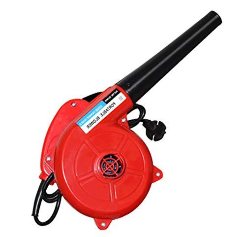 Met lithium-bedrade bladblazer (210 km/h luchtsnelheid, klein en handzaam, zonder batterij en oplader) rood, kwalitatief hoogwaardige elektrische luchtblazer vacuümstofzuiger groot volume.