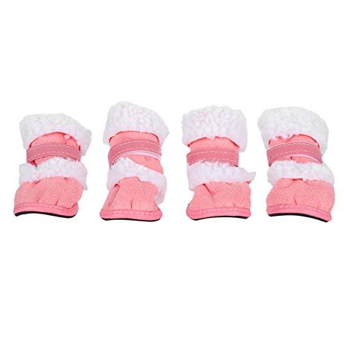 Qinlorgo Zapatos para Perros, Botas para Perros Zapatos para pies para Exteriores Zapatos para pies para Mascotas, para Mascotas(Pink, Number 1)