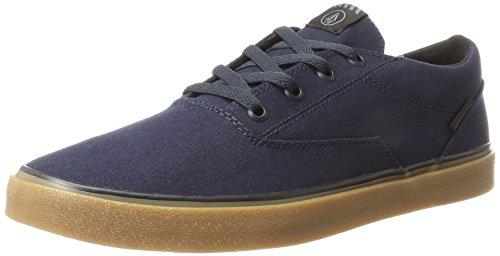 Volcom Draw Lo Shoe, Zapatillas de Skateboard para Hombre, Azul (Navy Nvy), 45 EU