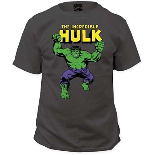 Marvel - Maglietta a maniche corte Hulk, per adulti, taglia S, colore: carbone