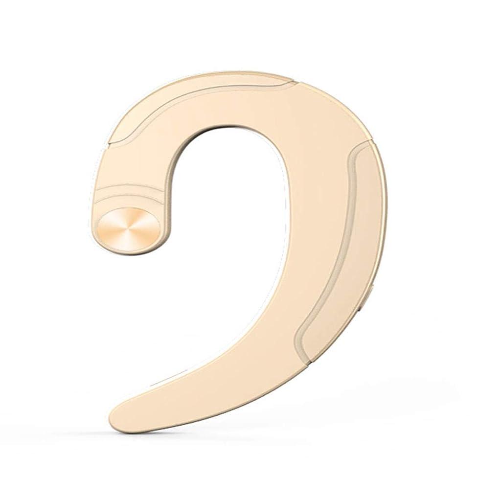 泥戦う導入するGuo ワイヤレスBluetoothヘッドセット目に見えない吊り耳の骨伝導のコンセプトではありません防塵防水ミニ超小型スポーツランニングオフィスフォート(あらゆる種類の携帯電話用)ユニセックスロングスタンバイ (A++) (色 : 黄)