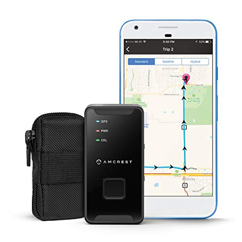 Amcrest 4G LTE GPS Tracker - Portable Mini Hidden Real-Time GPS Tracking...