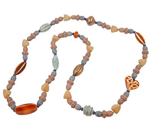 Damstone Halskette Jenny Antik-Style Herz Länge 100cm