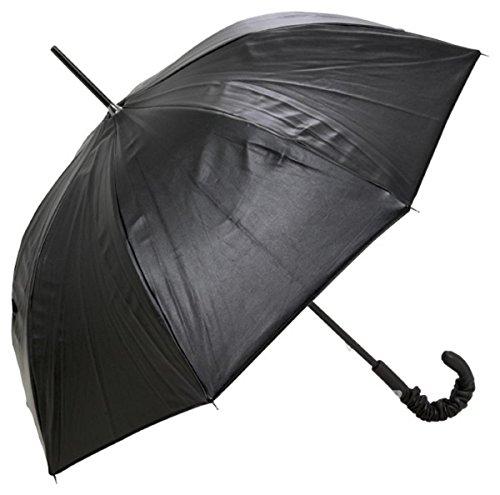 Runder Jean Paul Gaultier Designer Regenschirm Lederlook Optik mit Lederoptik Griff - Made in Paris