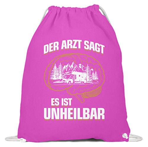 shirt-o-magic Wohnmobil: Es ist unheilbar - Baumwoll Gymsac -37cm-46cm-Fuchsia