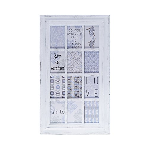 MELANNCO 12-Opening Wall Mount Frame Picture Collage, White