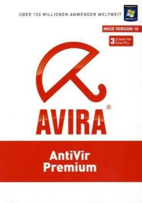 Avira AntiVir Premium Neue Version 10, 3-Platz-Lizenz, CD-ROM Für Windows XP(32 oder 64 Bit)SP2/Vista(32 oder 64 Bit)SP1/7
