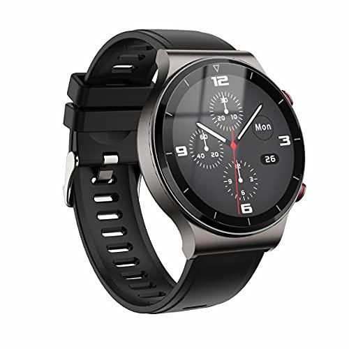QNMM I19 Smart Watch Hombres Bluetooth Call Music Play Conectar con Monitor de Ritmo Cardíaco Fitness Tracker Smartwatch, para Hombres Mujeres para Android IOS