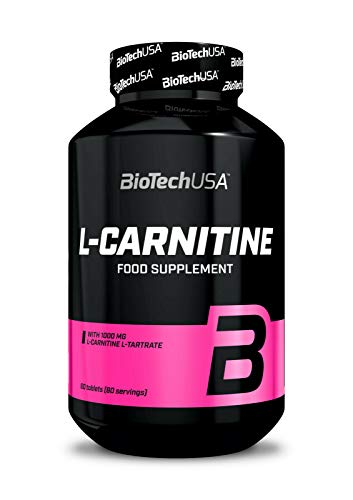 Biotech USA L-CARNITINE 1000 60 Tablets | Weight Management | Turns Body Fat Into Energy | Fat Burner