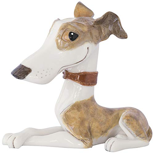 Grey Whippet Cartoon Figurine Figures of Your Favourite Pet Personalised Pet Ornament Sculpture for the Dog Lover Contemporary Birthday Christmas Little Paws - Twiggy Ladies Lady Mens Ladies Lady
