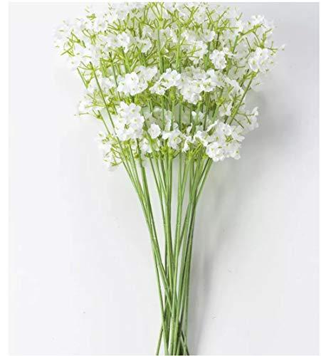 SSyang 20 Piezas Artificiales Gypsophila,Flores Artificiales Decorativas Ramo Artificial Gypsophila Flores Flores Falsas...