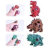 Ahagut 3 pièces Squeeze Ball Squeezeball Dinosaure Antistress en Caoutchouc Mousse Dino Enfants...