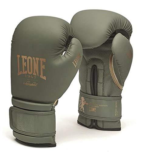 Leone1947 Boxhandschuhe Military Edition - Army Green - Boxhandschuhe Boxen Kickboxen Sparring Muay Thai - robuste Allround Boxhandschuhe mit Air Cool Innenhand (16 Unzen)