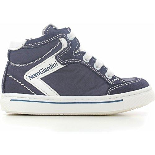 Nero Giardini Junior Sneaker Premiers Pas GARÇON Toile/Daim P623790M-200 (22, Blue)