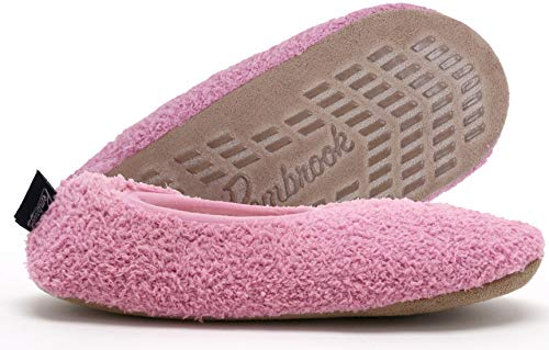 Super Soft Slipper - Pink - Large (9-10.5) - Memory Foam - Faux Shearling Lining - Great Plush Slip On House Slippers for Adults, Women, Girls