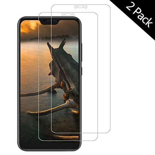 OUJD Protector Pantalla para Xiaomi Mi A2 Lite ( Paquete de 2 ) - Xiaomi Redmi 6 Pro, Cristal Vidrio Templado Premium