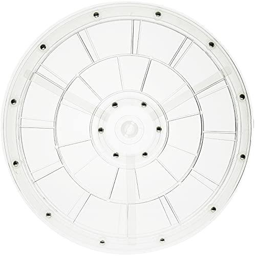 PrimeMatik - Base giratoria Manual de 30,6 cm. Plataforma Rotatoria Transparente