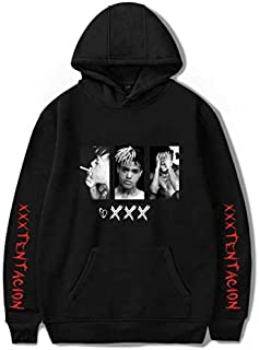 Red Black Rapper Singer Xxxtentacion Hoodies Unisex Sweatshirt Hoodies Fans Idol Cotton Polluvers Unisex Tops-XXXXL