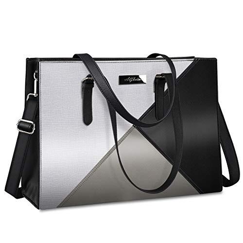 Alfheim Borse per Laptop da Donna Borsa da Viaggio in Pelle da 15,6-16 Pollici Borsa Grande da Spalla per Lavoro Borsa da Donna per Ufficio, Scuola, Viaggio, Lavoro