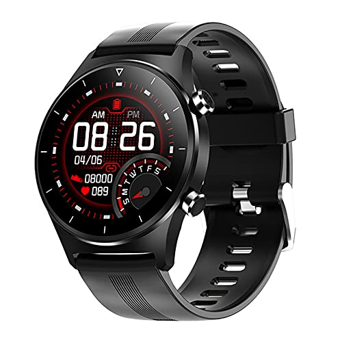 ZGZYL E13 Smart Watch Clock Support Teléfono Mensaje GPS Reloj para Hombre Bluetooth 5.0 Conexión IP68 Rastreador De Cuerpo A Prueba De Agua Smart Watch Android iOS Mobile Teléfono Móvil,E