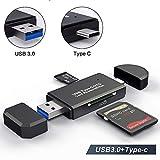 Lecteur De Cartes SD/Micro SD Adaptateur USB Type C Micro USB OTG et Lecteur de Carte mémoire USB 3.0 pour SDXC RS-MMC MMC Micro SDXC SDHC SD Micro SD Carte UHS-I Micro SDHC