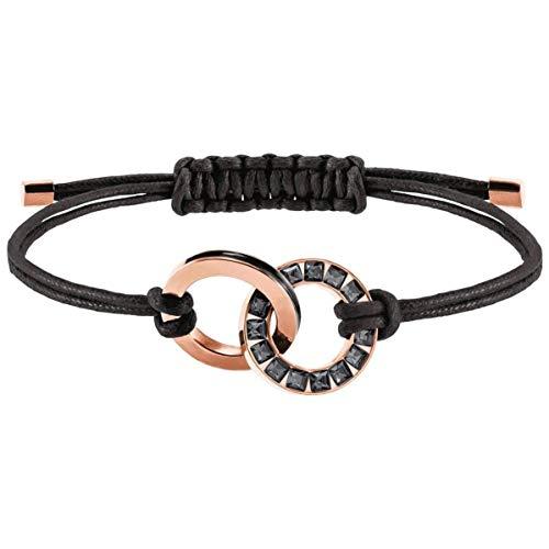 Swarovski 5429899 Pulsera Cuerda de Mujer con Acero Inoxidable, Rosa