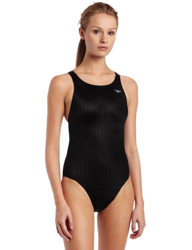 Speedo Damen Race Lycra-Mischgewebe Aquablade Recordbreaker Kneeskin Schwimmanzug für Badeanzug, Damen, schwarz