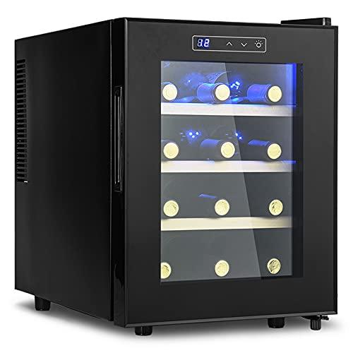 12 Bottle Wine Cooler Refrigerator, Freestanding...