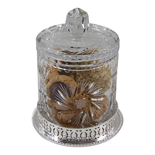 Learn More About Cookie Jar 34oz Silver Plated English Gallery Base and Cut Crystal Body & Lid