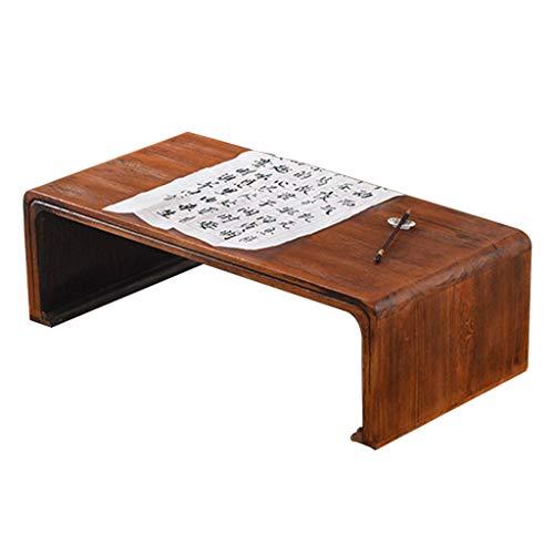 Tables basses Chinoise Table d'école Simple Table Tatami en Bois Massif Table Baie vitrée (Color : Brown, Size : 80 * 40 * 30cm)