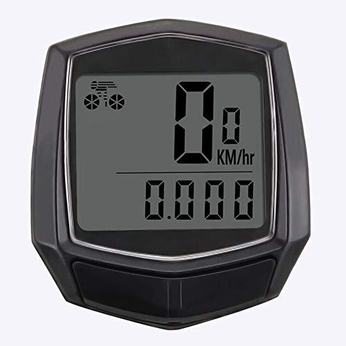 AELEGASN 2PCS Cuentakilómetros para Bicicleta Velocimetro Impermeable Ciclocomputador Cuenta Kilómetros, Reloj Y...