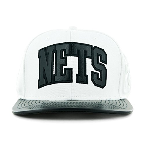 Mitchell & Ness - Casquette Strapback Homme Brooklyn Nets Wool-Leather