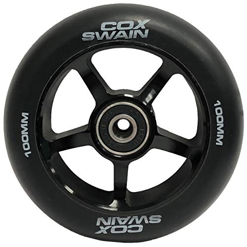 Cox Swain 2 STK. X-385 High End 100mm Stunt Scooter Rollen Alu Core - ABEC 11 Lager, Black/Black