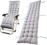 You's Auto Sun Lounger Cushions,Replacement Sunbed Cushion Cover Pad Classic Garden Patio Thick Chair Pad for Travel Holiday Garden Indoor Outdoor,no chairs (light grey)