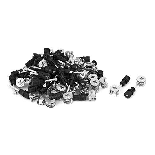 Aexit 50 Schrauben Sets Büro Zink Legierung Anschlussbeschläge Madenschrauben Exzentrische Nockenradmutter