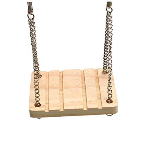 Hamster Gioco per animali domestici Hanging Dondolo Climber Nave Agitare con campane giocattolo in legno per criceto o altri piccoli AnimalsHome Decor