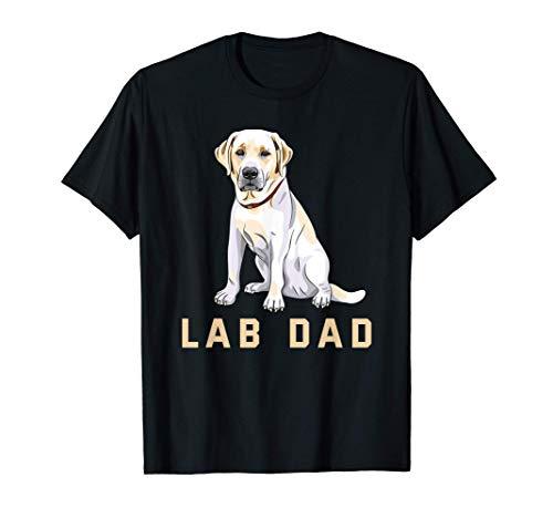 Hombre Camiseta Lab Dad Yellow Labrador Retriever para hombre Camiseta