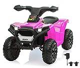 Jamara 460868 Ride On Mini Quad Runty – leistungsstarker Antriebsmotor/Akku für bis 120 Min. Fahrzeit, Max. 25KG, kurz untersetztes Getriebe für kräftigen Vortrieb, Sound, Licht vorne,...