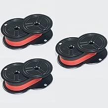 Package of Three, Compatable Nukote BR80C, BRM233, Porelon 11210 (POR11210), Porelon 11216 (POR11216) Twin Spool Black and Red Calculator Ribbons for Sharp El 1630, El 1197, El 1197 PIII