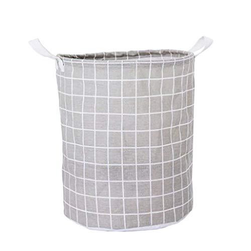 Panier à Linge Design Coton et Lin Pliable Art Tissu Jouet Vêtement Marron LITING