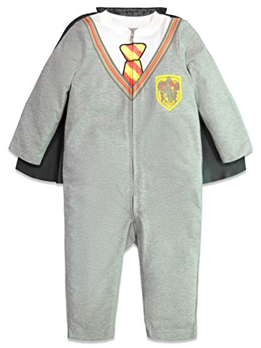 Warner Bros. Harry Potter Costume Neonato - Tutina con Cerniera a Lampo e Cappa 6-9 Mesi