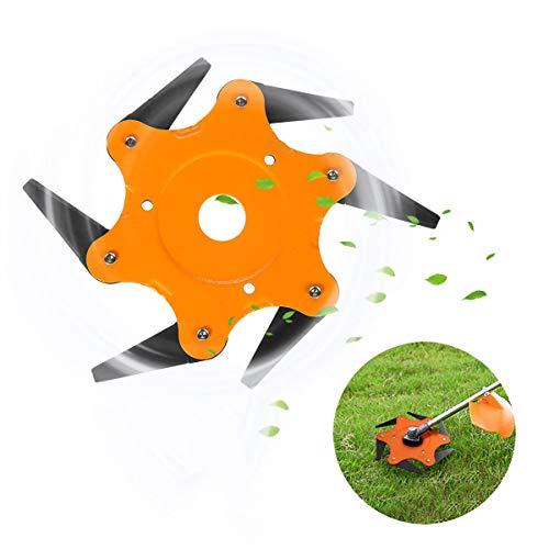 Asciende Naranja 6 Hojas de Afeitar de Acero 65Mn Segadora Eater Cabezal de Corte de Hierba desbrozadora Desmalezadora