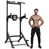 Sportsroyals Power Tower Pull Up Dip Station Adjustable Multi-Function Home Gym Strength Training...
