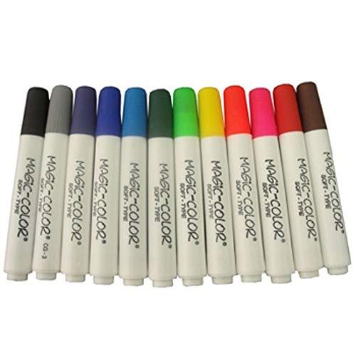 Kit de Canetas Magic Color Soft Type com 12 Cores Básica Sortidas - Cód. 560