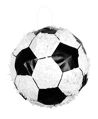 toybakery - Kindergeburtstag Dekoration Deko Pinata Ball Fußball, 30x30cm, Football, ideal für Jede Geburtstagsparty / Feier, Weiß