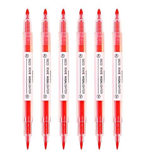 Ensemble de 6 stylos pinceaux doubles, marqueurs de pinceaux colorés pour enfant, rouge