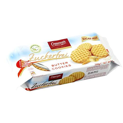 Coppenrath Zuckerfrei Butter Cookies, 7er Pack, 7 x 200 g