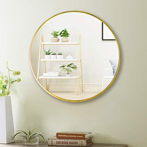 Beauty4U 20' Wall Circle Mirror Large Round Gold Farmhouse...