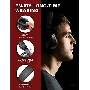 PeohZarr On-Ear Headphones with Microphone, Lightweight Folding Stereo Bass Headphones with 1.5M Tangle Free Cord, Portable Wired Headphones for Smartphone Tablet Laptop Computer MP3/4